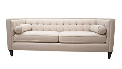 Charmant Jennifer Taylor Home Jack Collection Modern Hand Tufted Upholstered Sofa  With 2 Bolster Pillows And Hand