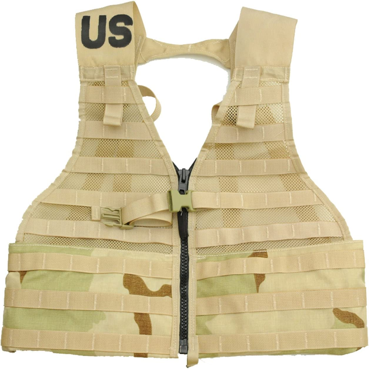 Military Outdoor Clothing Never Issued U.S. G.I. 3-Color Desert MOLLE II Fighting Load Carrier (FLC) Vest