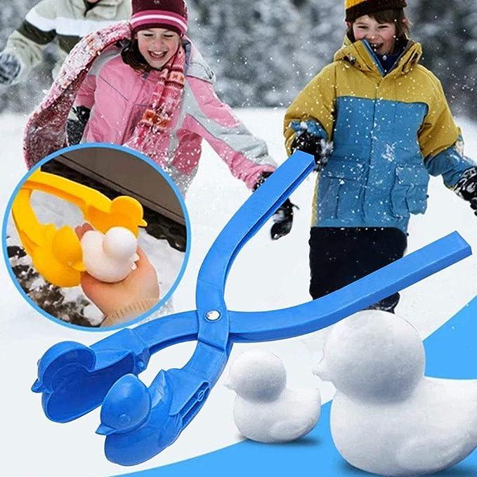 Schneeball-Clip Schneeballmacher Winter Schnee Scoop Clip Sand Tonformwerkzeug Kinder Spielzeug infactory Schneeballformer Profi-Schneeballzange Cartoon-Pinguin Schneeball Maker Clip Tool