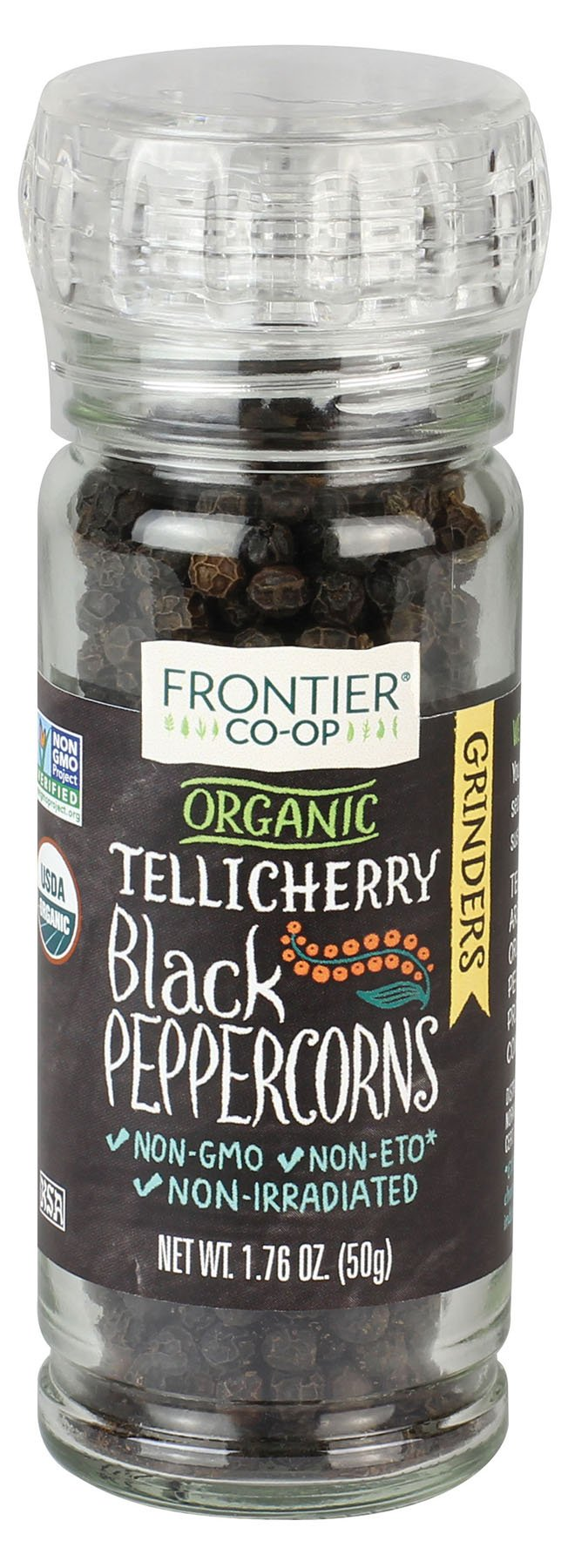 Frontier Natural Products Peppercorns, Og, Black, Tlch, 1.76-Ounce (Pack of 3) by Frontier