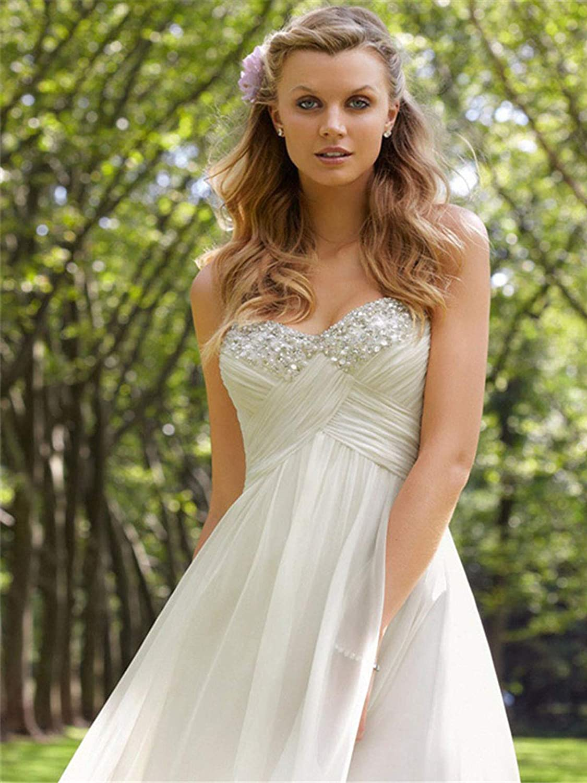 Babygirls Beach Wedding Dress Plus Size for Woman Long Wedding ...