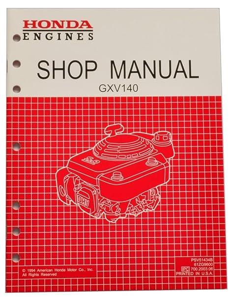 amazon com honda gxv140 engine service repair shop manual lawn