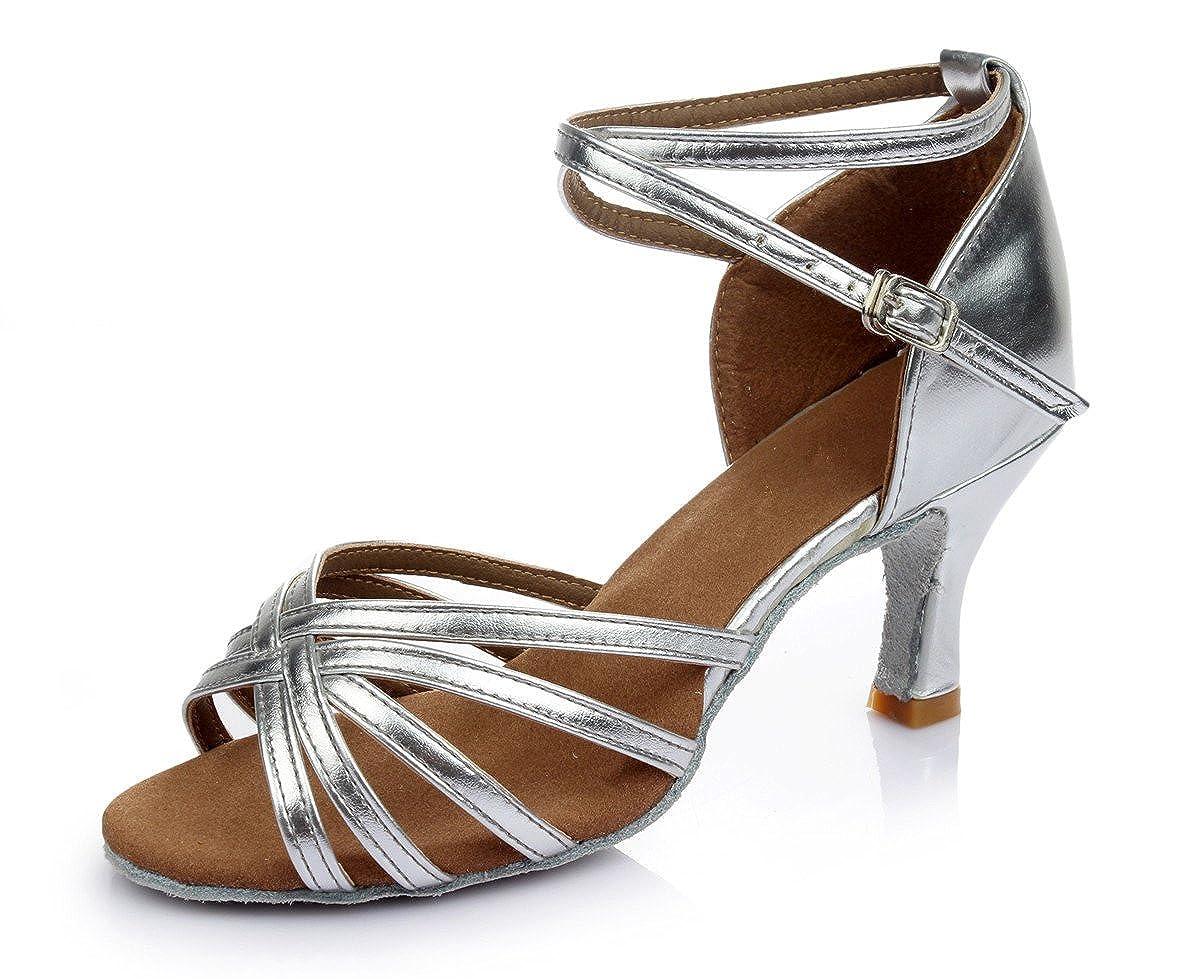 VESI-Chaussures a Talons Hauts de Danse Latine Sandales pour Femme Argent 41 VZA0001SG41