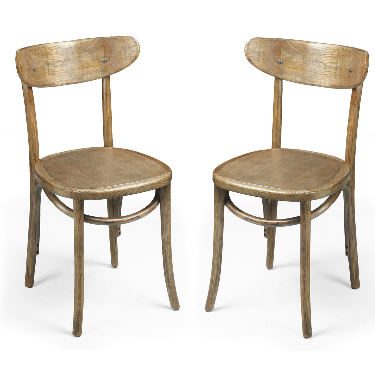 Joveco Elm Wood Vintage Antique Style Solid Dining Chair - Set of 2 Wholesale Price Available