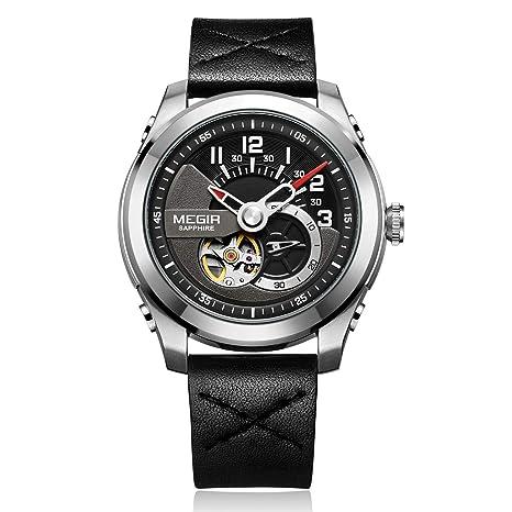 Megir Relojes Automático Reloj Mecánico Hombres Zafiro Impermeable Masculino Relojes Automáticos Hombres Marca De Lujo Reloj