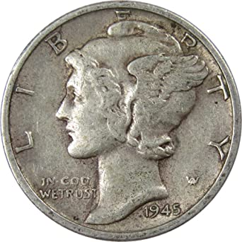 Brilliant Uncirculated Lot Of 5 BU 1942-S Mercury Dimes US 90/% Silver Coins