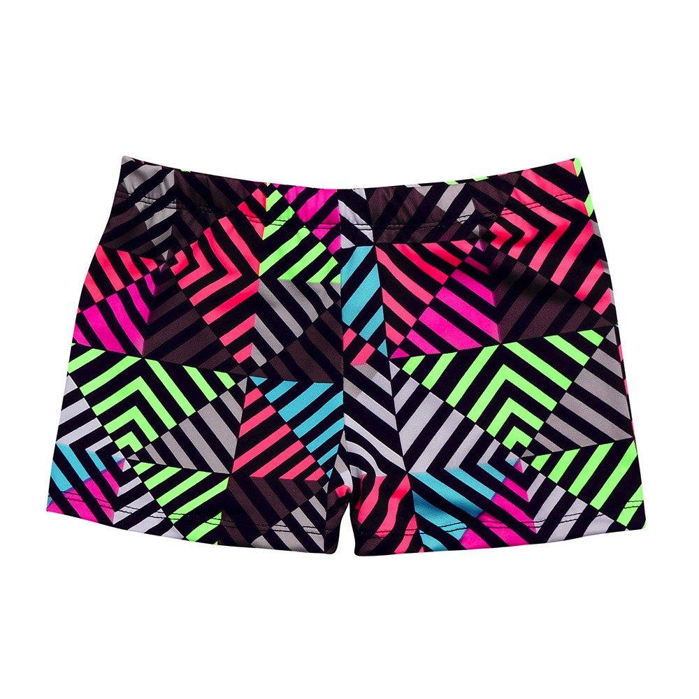 Beew Boy's Swim Trunks Swimwear Beachwear Breathable Quick Dry Color Striped Printed Sportwear Casual Beach (XL, Multicolor)