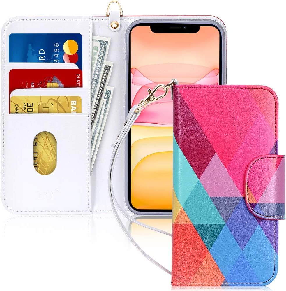 """FYY Case for iPhone 11 Pro 5.8"""", [Kickstand Feature] Luxury PU Leather Wallet Case Flip Folio Cover with [Card Slots] and [Note Pockets] for Apple iPhone 11 Pro 5.8 inch Dream Block"""