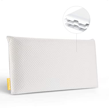 UTTU Sandwich Pillow [Queen Size], 20  x 30  Adjustable Memory Foam Pillow, Bamboo Pillow for Sleeping, Side Sleeper Pillow for Neck and Shoulder Pain, Hypoallergenic Cooling Bed Pillow, CertiPUR-US