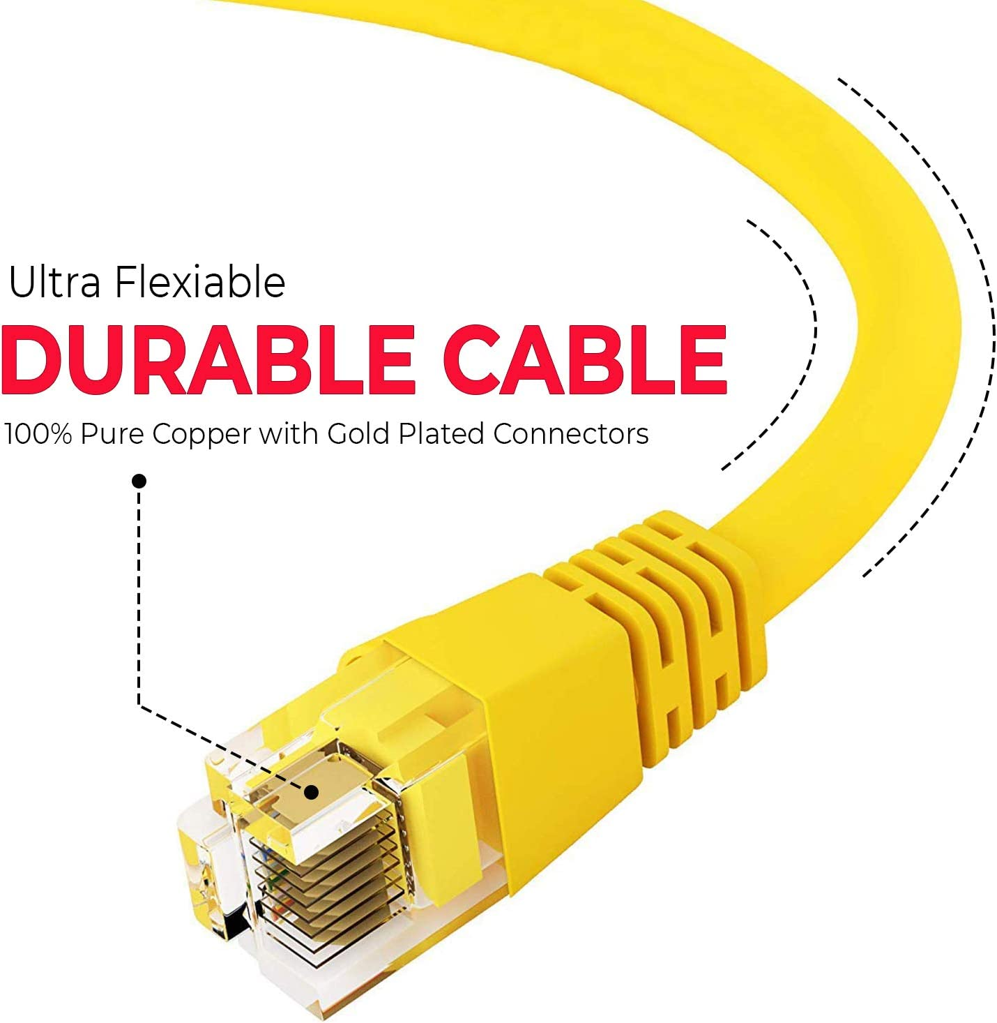 Cable Length: Other Cables 10 PCS Network Connector Gold Plated CAT5 Modular Jack Network Male Plugs for Network Cable