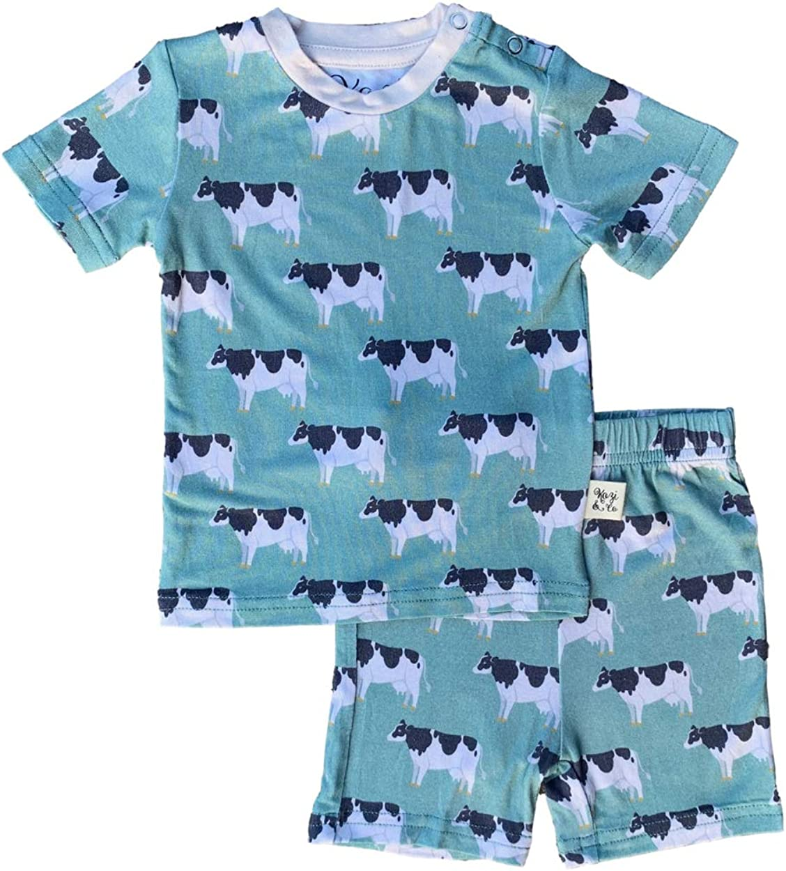 Pajama Set Girls and Boys Short Sleeve Kozi /& Co PJs Pajamas