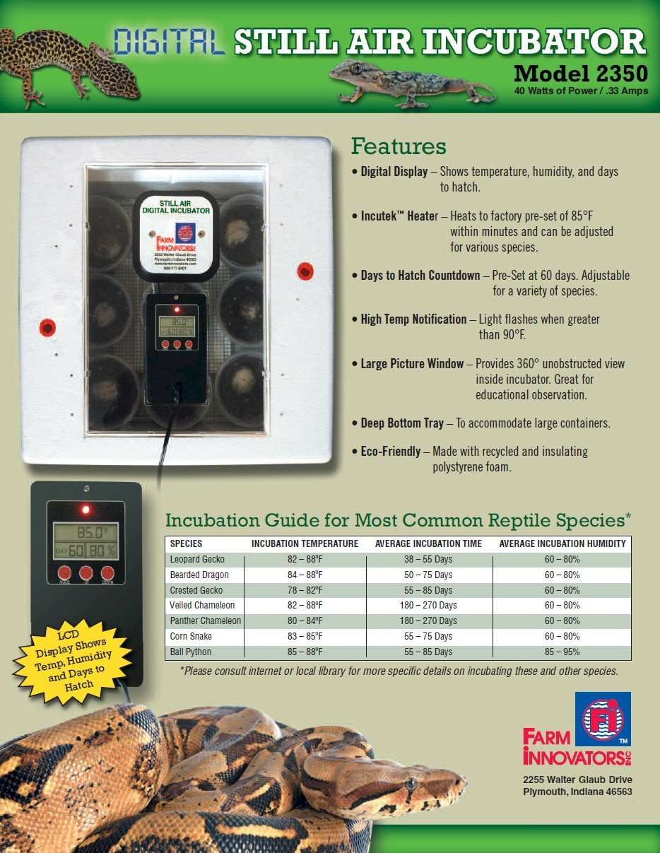 Farm Innovators 2350 Digital Still Air Reptile Incubator by Farm Innovators (Image #3)