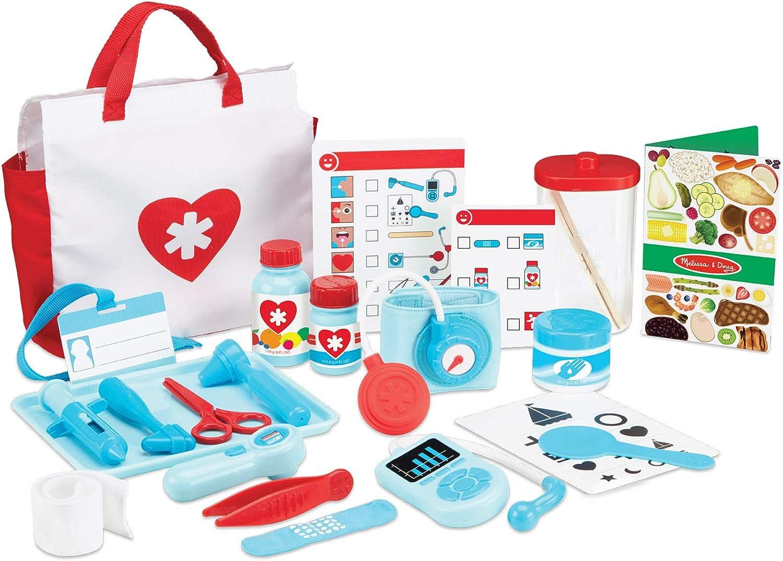 Melissa & Doug - Get Well - Kit de médico de juguete (25 piezas)