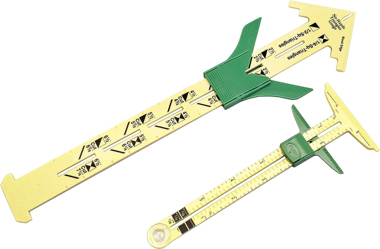 #1 5 in 1 Quilting Ruler DIY Multifunctional Plastic Quilting Crafting Sewing Ruler Measuring Tool