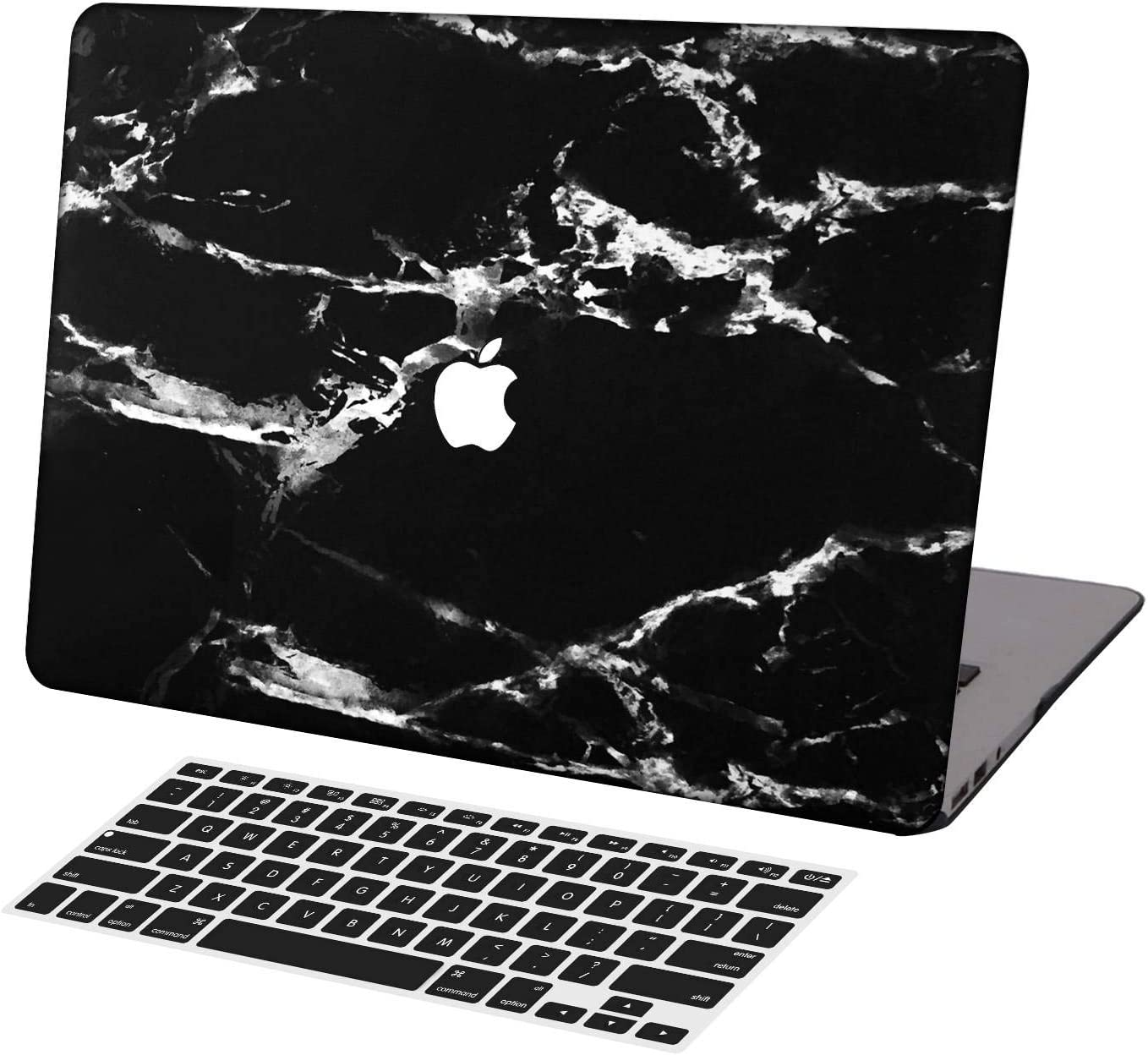 KSK KAISHEK Laptop Case for 2016-2020 Release MacBook Pro 13 Inch Model:A2289/A2251/A2159/A1989/A1706/A1708,Plastic Ultra Slim Light Hard Shell Keyboard Cover,Black & White Marble