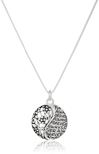 Amazon sterling silver sisters forever pendant necklace sterling silver sisters forever pendant necklace mozeypictures Image collections