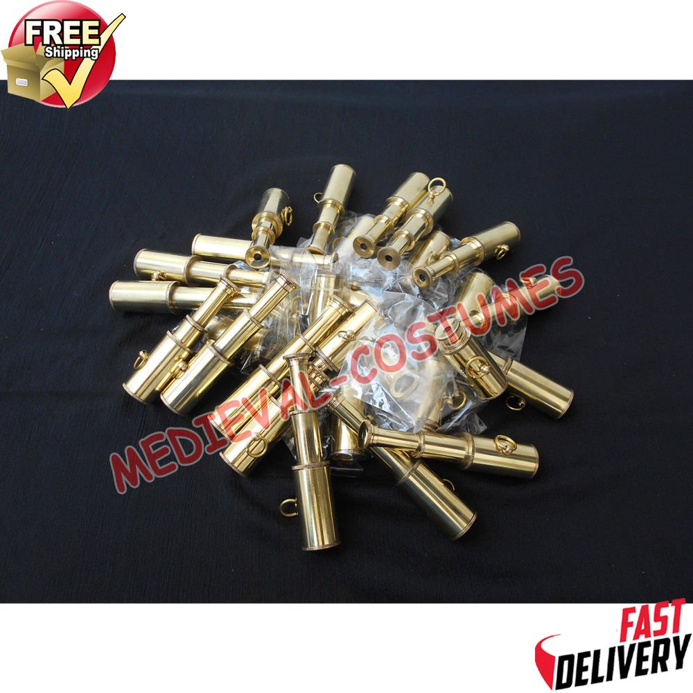 Shaheera Nautical Antique Nautical Brass Telescope for Keychain LOT of 100 Units Maritime Item B