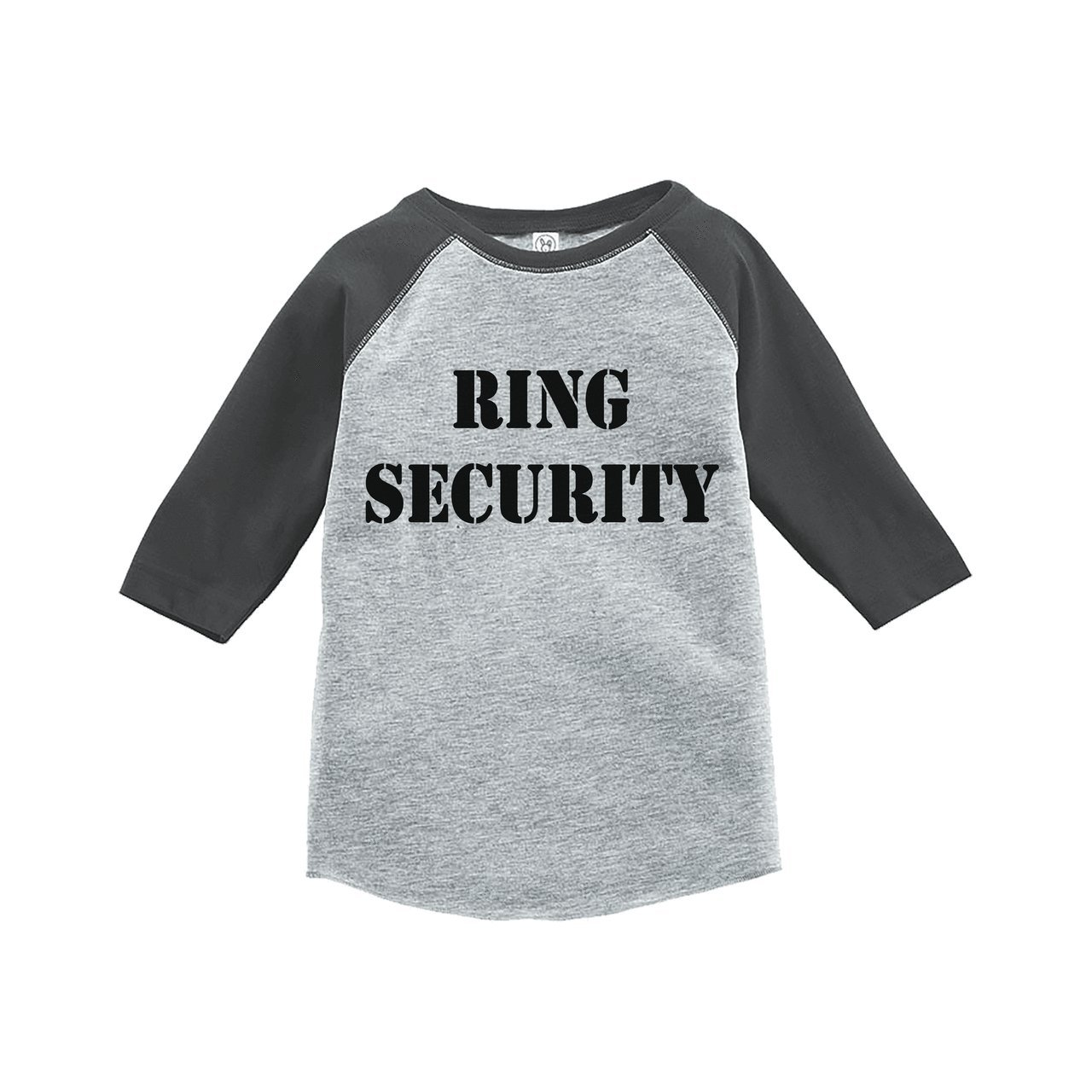 7 ate 9 Apparel Youth Boy's Ring Security Wedding Grey Raglan Medium