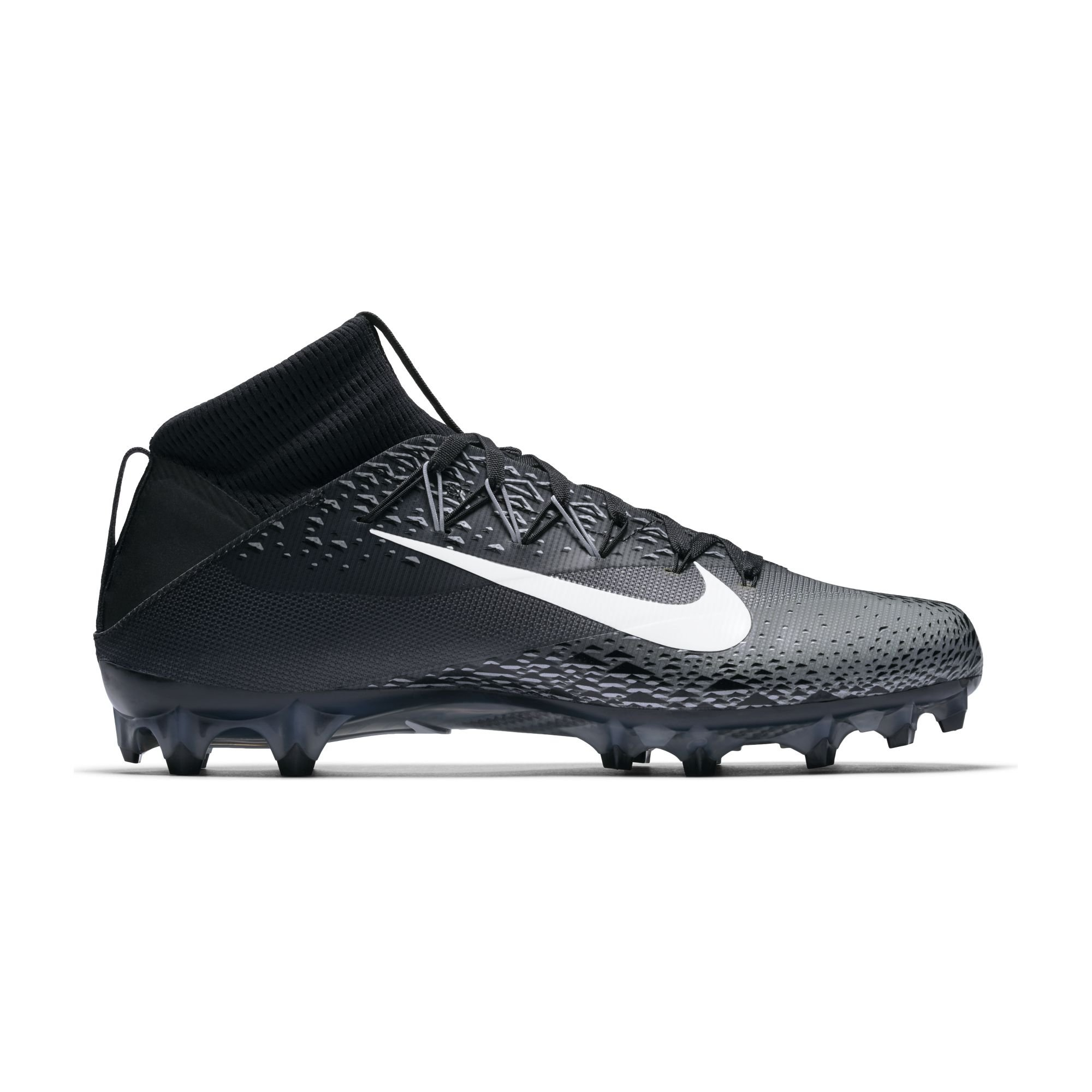 Nike Men's Vapor Untouchable 2 Football Cleat Black/White/Metallic Silver/Anthracite Size 9 M US