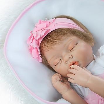 NPK Collection Muñeca bebé recién nacido 55 cm 22 pulgadas, muñeca ...