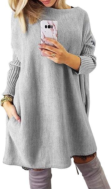 Dearlovers Women\u0027s Oversized Loose Casual Long Pullover Sweaters Dress  Jumper