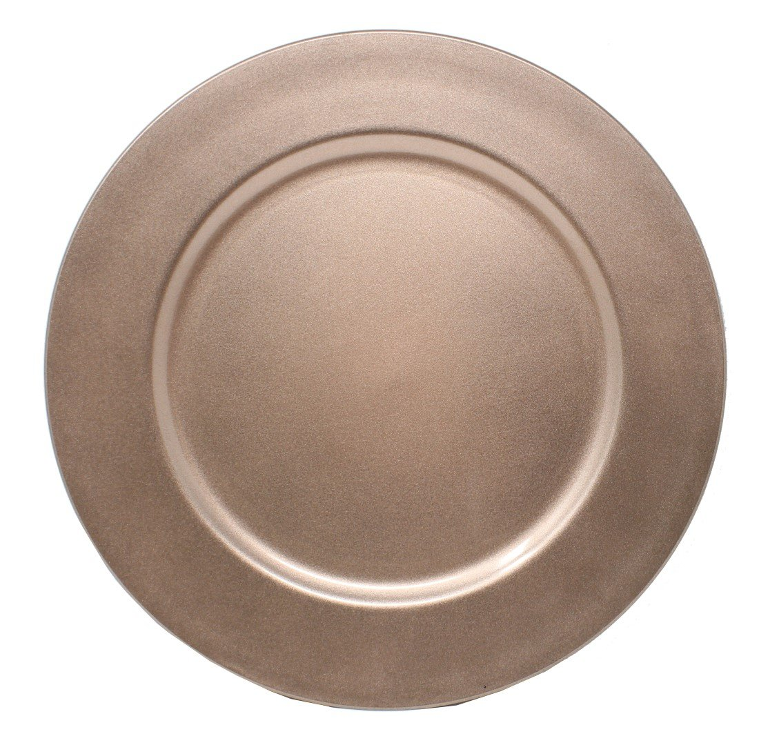 Ms Lovely Charger Plates - 13 Inch - Set of 6 - Rose Gold