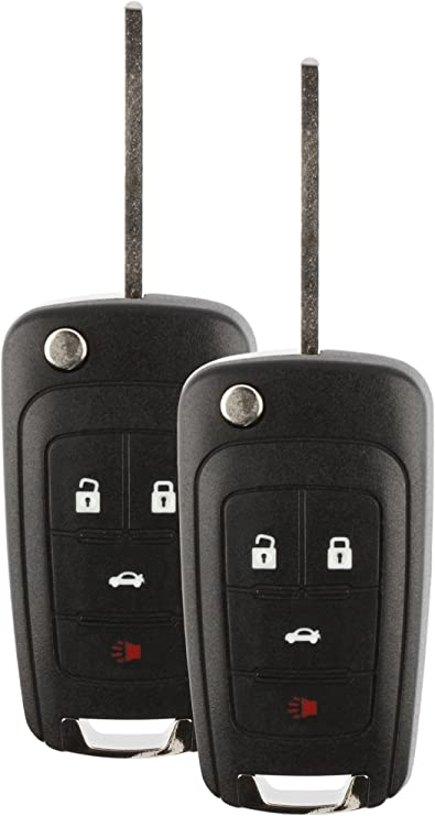 2 Pack LYSB01LW7YT7I-ELECTRNCS Discount Keyless Replacement Uncut Car Remote Fob Key Combo Compatible with OHT01060512