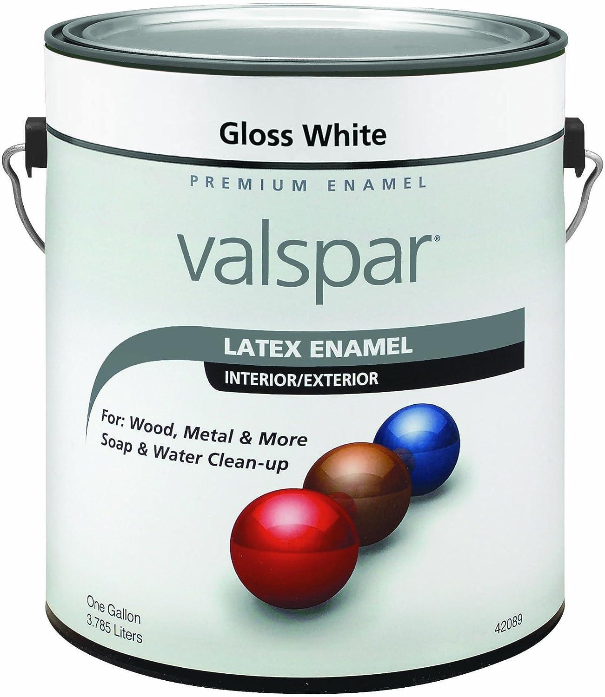 Valspar 65000 プレミアム屋内/屋外用ラテックスエナメル、0.5パイント、ホワイト光沢 1クォート 410-65039 QT 1 B000LNR9NC 1クォート|Pewter Gray Pewter Gray 1クォート