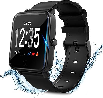 Smartwatch Fitness Armband Wasserdicht IP67 Sport Uhr Tracker mit Stoppuhr Weiß
