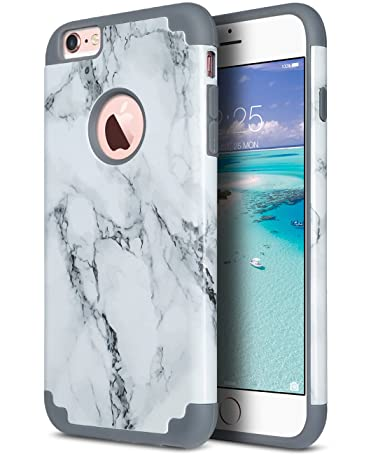 ULAK iPhone 6 Plus Case, iPhone 6S Plus Case, Slim Dual Layer Soft Silicone and Hard Back Cover Anti Scratches Bumper Protective Cover for Apple ...
