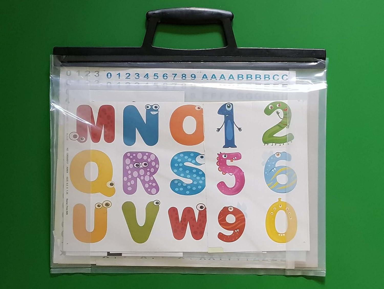 Cartellina portatile per scuola, per disegni in formato A1,A2,A3, eA4trasparente, Clear, A1 A2 A3 eA4trasparente phd-pb