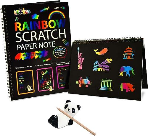 Rainbow Scratch Art for Kids