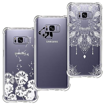 3 Pack] Funda Samsung Galaxy S8, Funda de Silicona Blossom01 ...