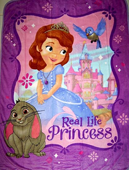Disney Sofia The First Plush Throw Blanket Amazonin Home Kitchen Interesting Sofia The First Throw Blanket