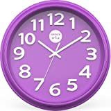 "Amazon Price History for:Office + Style 13"" Silent Quartz Color Wall Clock with Anti-Scratch Cover- Purple"