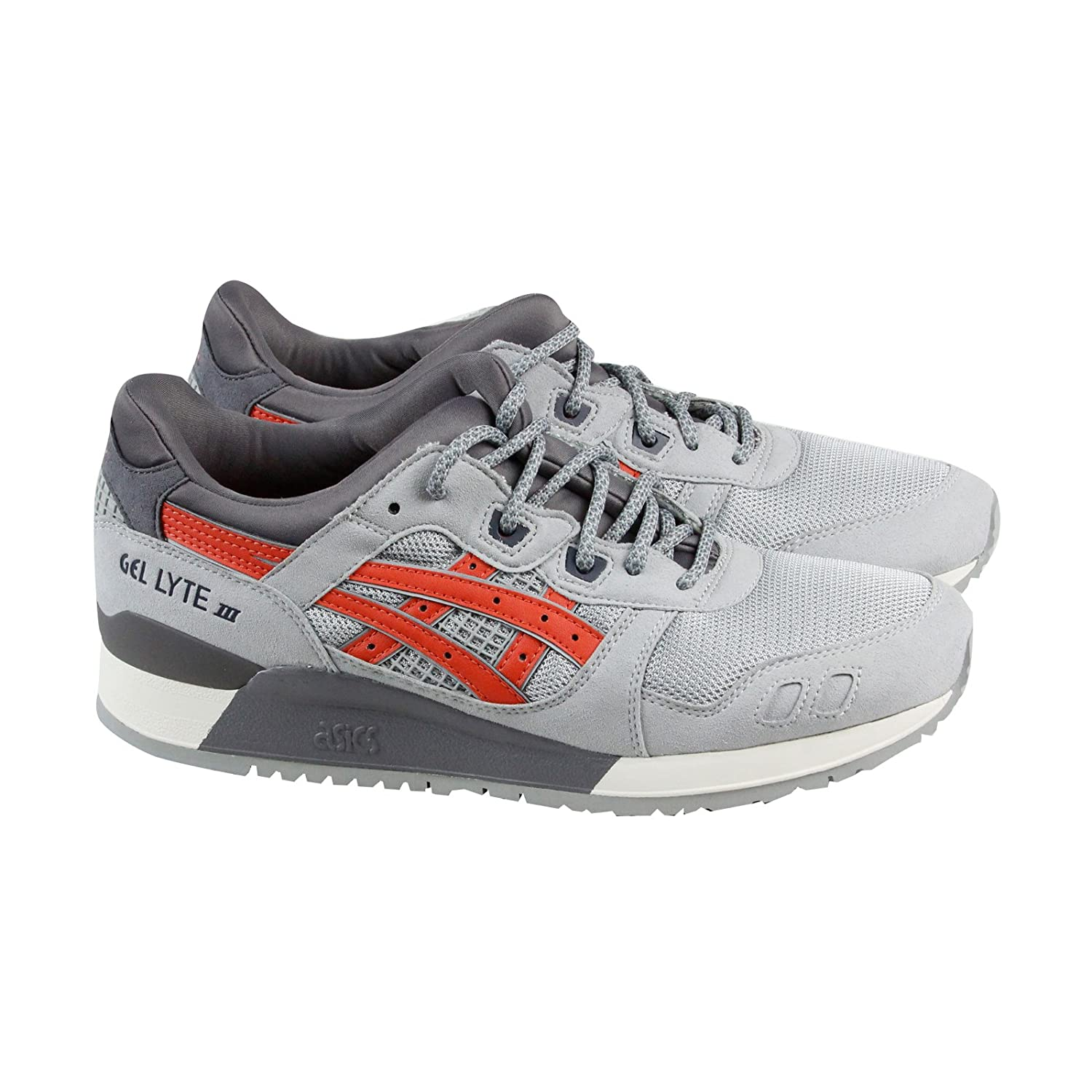 ASICS Men's Gel-Lyte III Running Shoe B0778W4CH2 11.5 M US|Light Grey / Chili