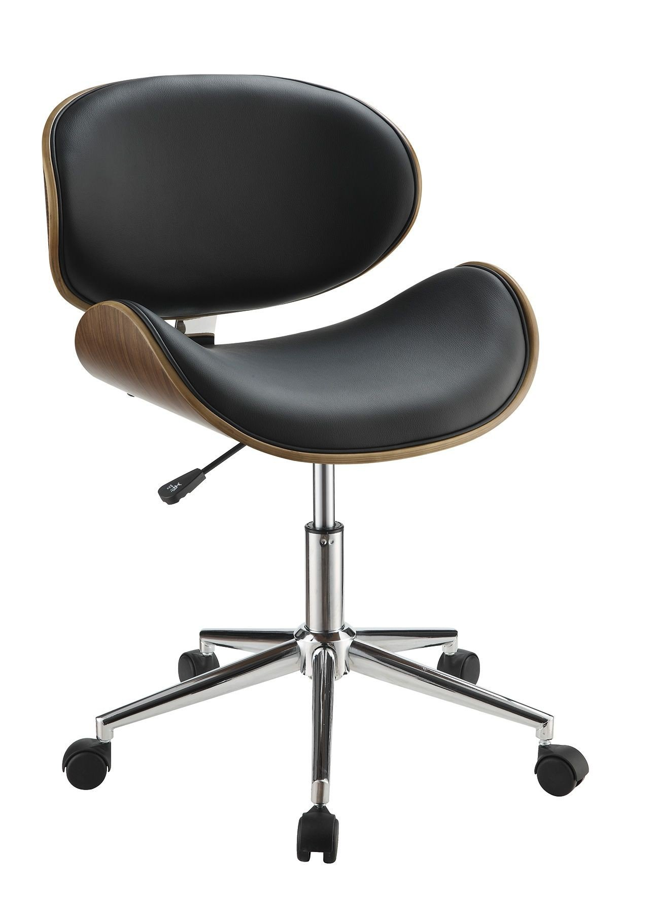 Coaster Home Furnishings 800614 Leatherette Office Chair, NULL, Black