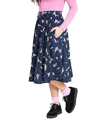 Hell Bunny Atomic Mid Dress Navy Navy Vintage Fashion