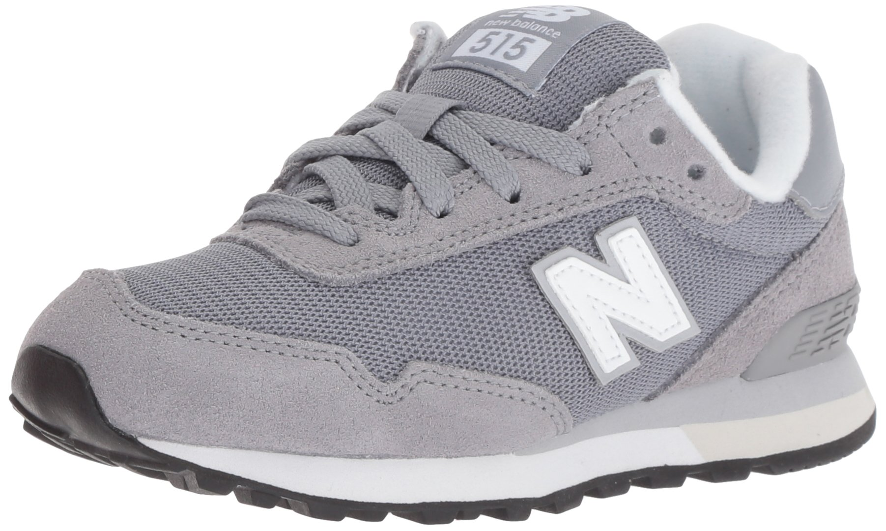 New Balance Boys' 515v1 Sneaker, grey/white, 5 M US Big Kid