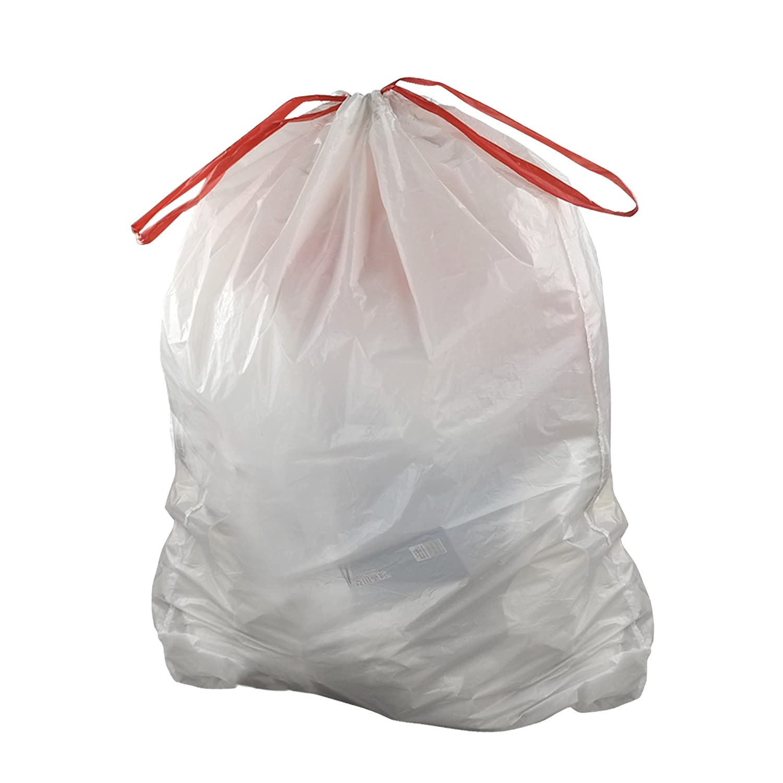 Amazon.com: Doryh 10 Gallon White Drawstring Trash bags, 2 Rolls/120 ...