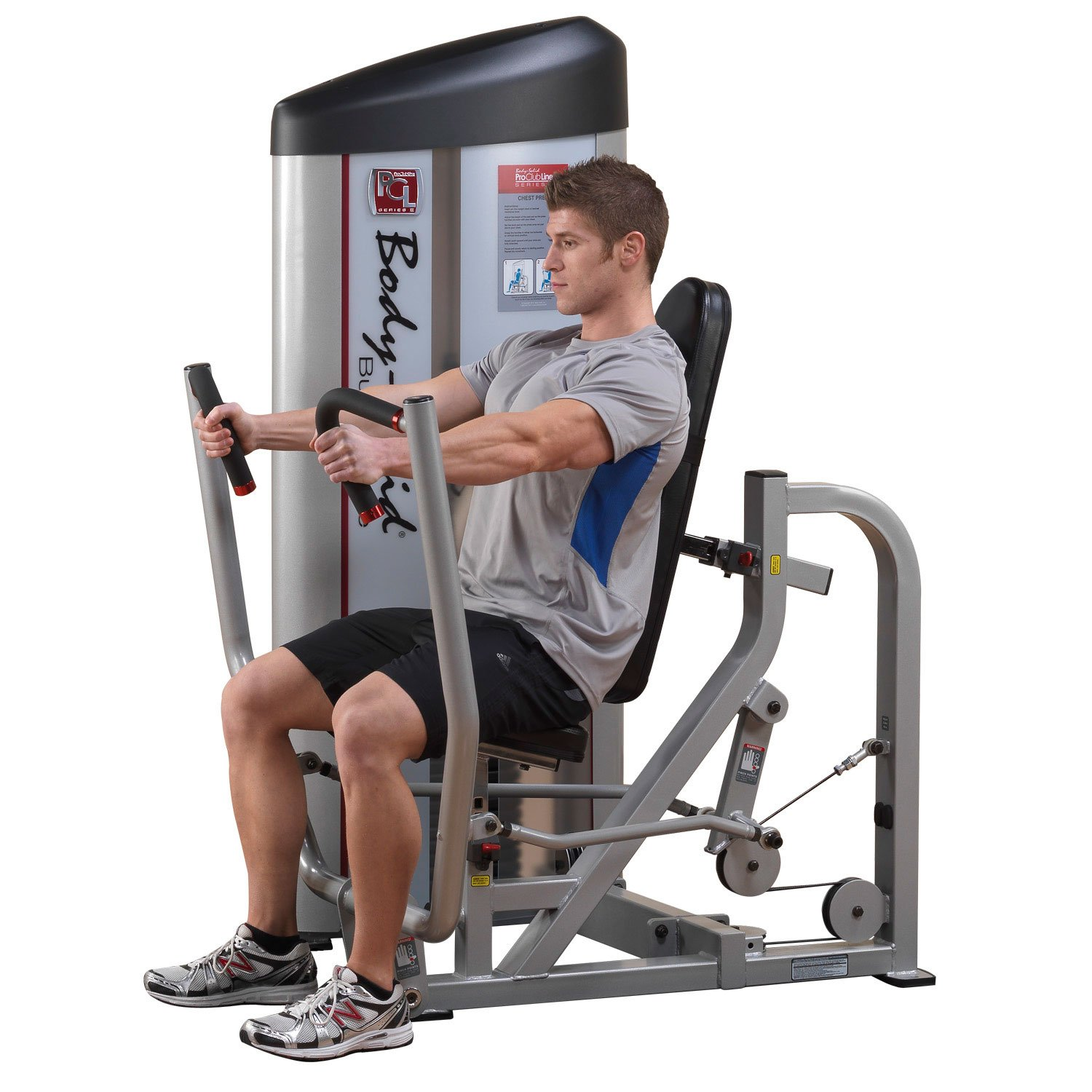 Body Solid S2CP3 ProClub Line Series 2 Chest Press with 11-Gauge Steel and Construction and Instructional Placards 310-Pound