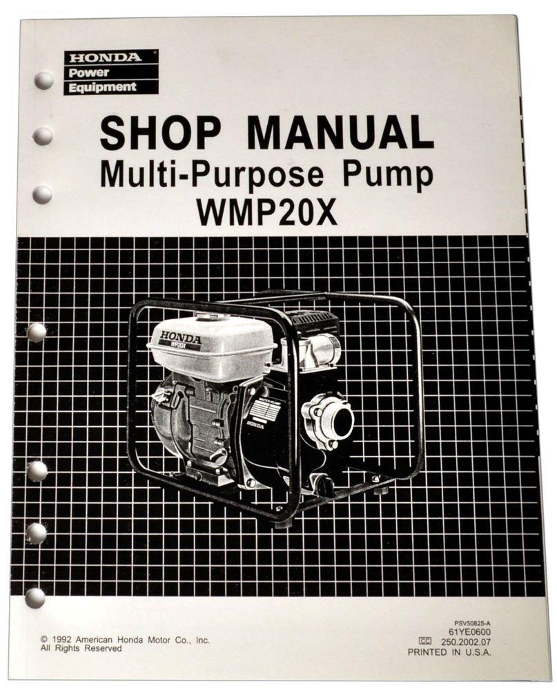 Honda WMP20 WMP20X Water Pump Service Repair Shop Manual