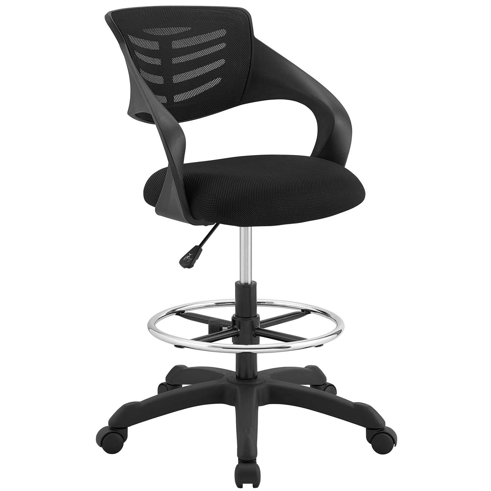 Modway EEI-3040-BLK Thrive Mesh Drafting Chair, Black (Renewed)