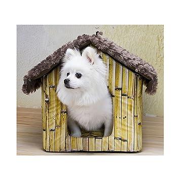 Otoño Invierno Teddy perrera mascota perrera lavable Pomerania de Cottages Bichon Pequeño perro Caseta Perro Casa