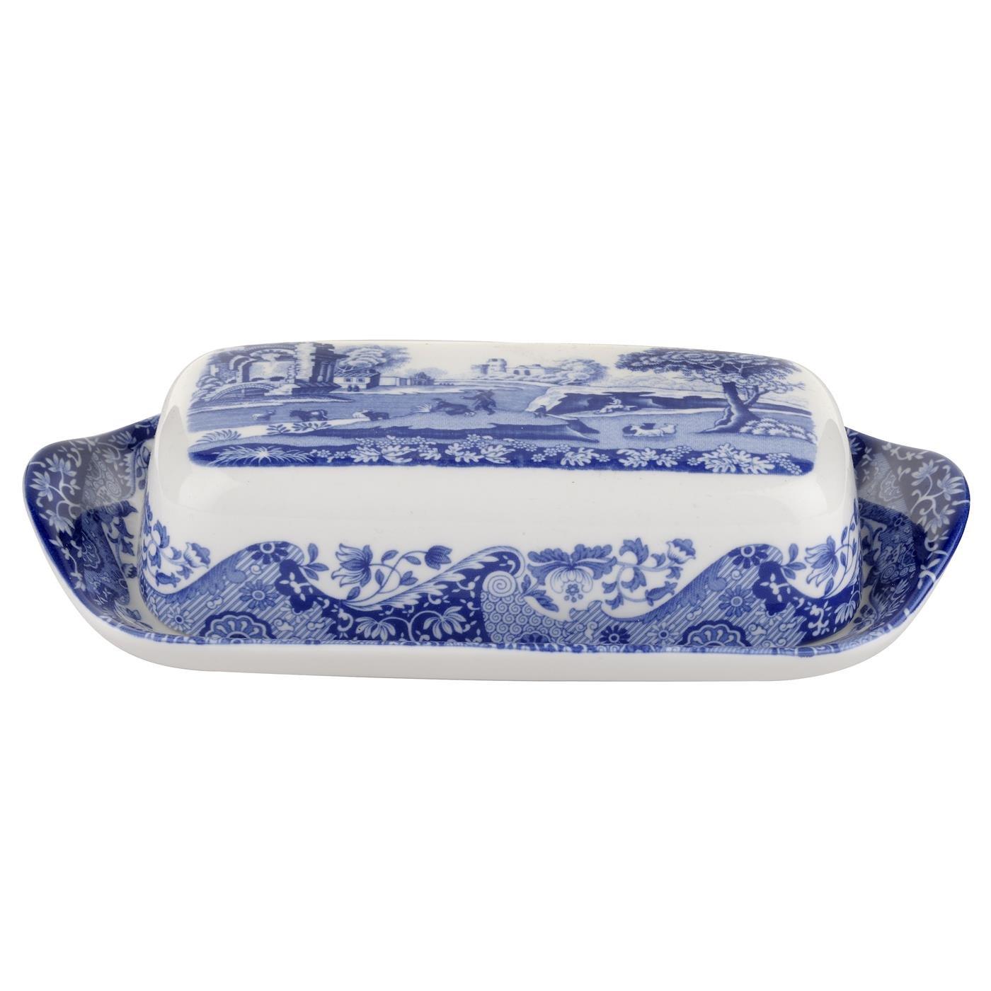 Spode Blue Italian Covered Butter Dish