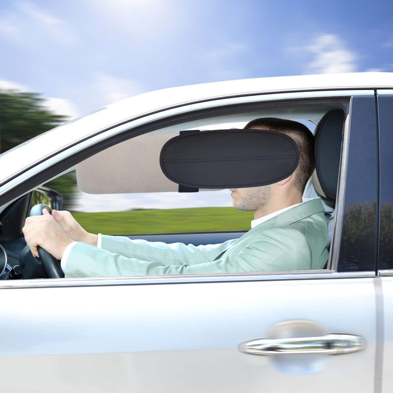 Car Window Sunshade TFY Car Sun Visor Sunshade Extender Sun Glare Reducer, 1 Piece - Silver 2VisorExtend_silver