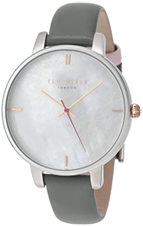 c3745362e0c Image Unavailable. Image not available for. Color  Ladies Ted Baker London Watch  Leather Strap Mother of Pearl Dial TE15162002