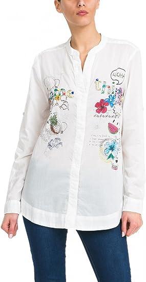 Desigual - Camisas - para mujer blanco X-Large: Amazon.es: Ropa y accesorios
