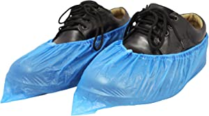 (GETHIKA) Shoe Covers Disposable Non Slip Waterproof Protector 100 Pack (50 Pairs) Shoe & Boot Covers For Indoors And Outdoor, Booties For Shoes Covers Disposable, Blue Rain Boots Cover Guards.