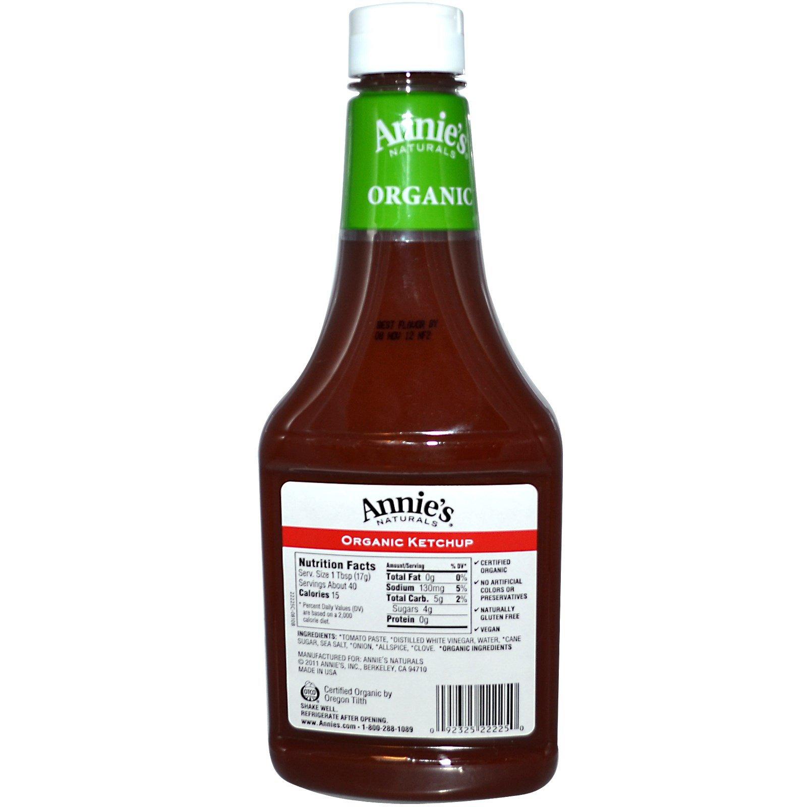 Annie's Naturals, Organic, Ketchup, 24 oz (680 g) By Annie's Naturals